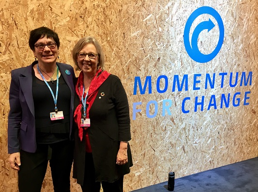 E with President of FCM Jenny Gerbasi